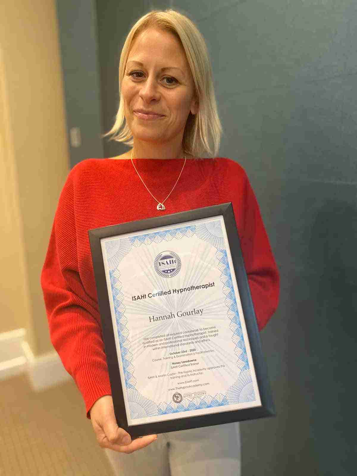 Certified Hypnotherapist With The Hypnotherapy Academy